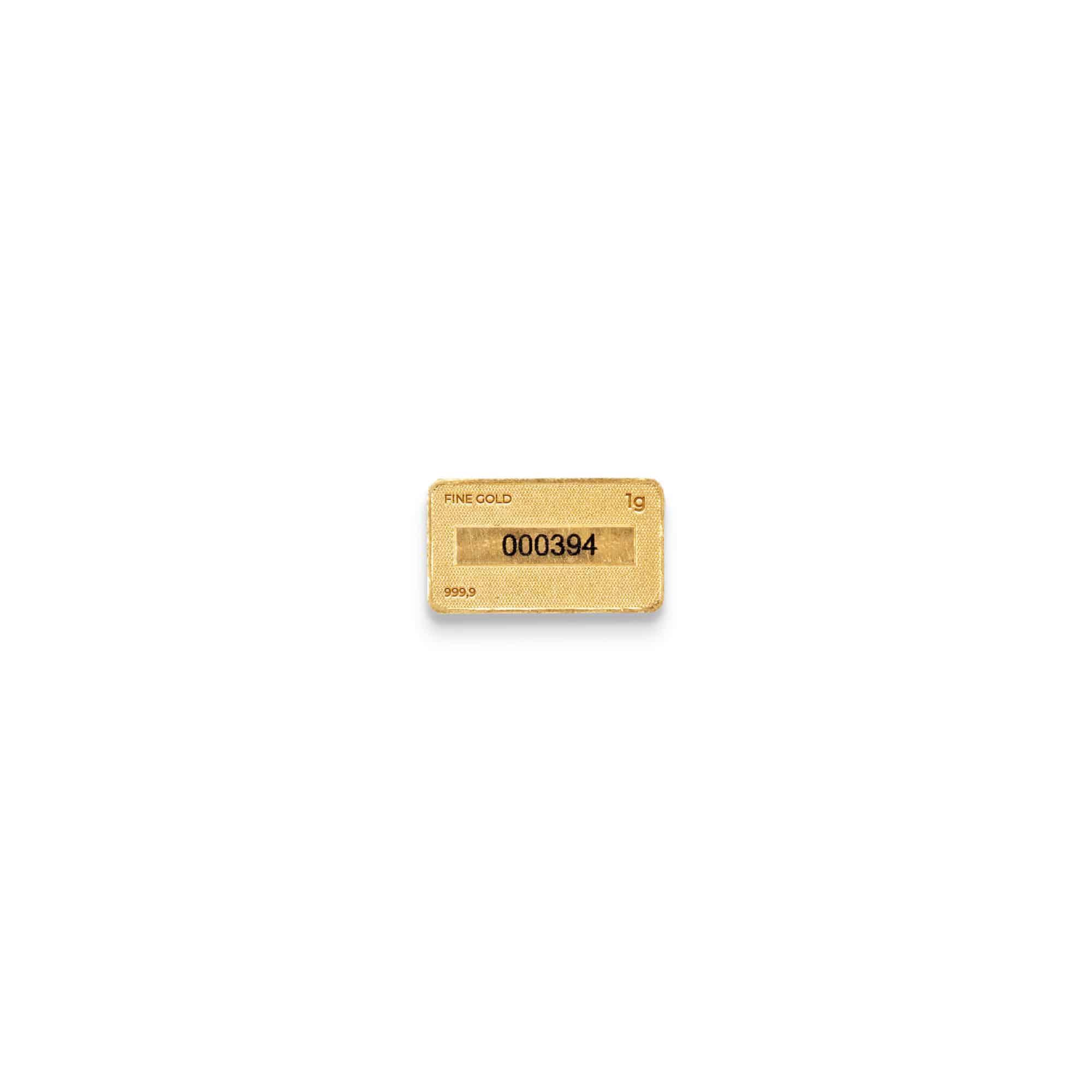 Zlatna plocica 1 grama