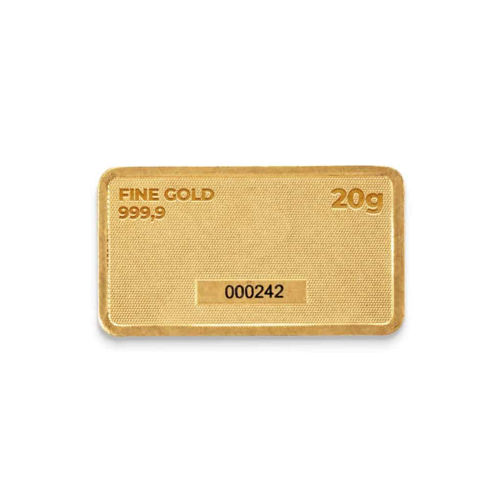 Zlatna plocica 20 grama