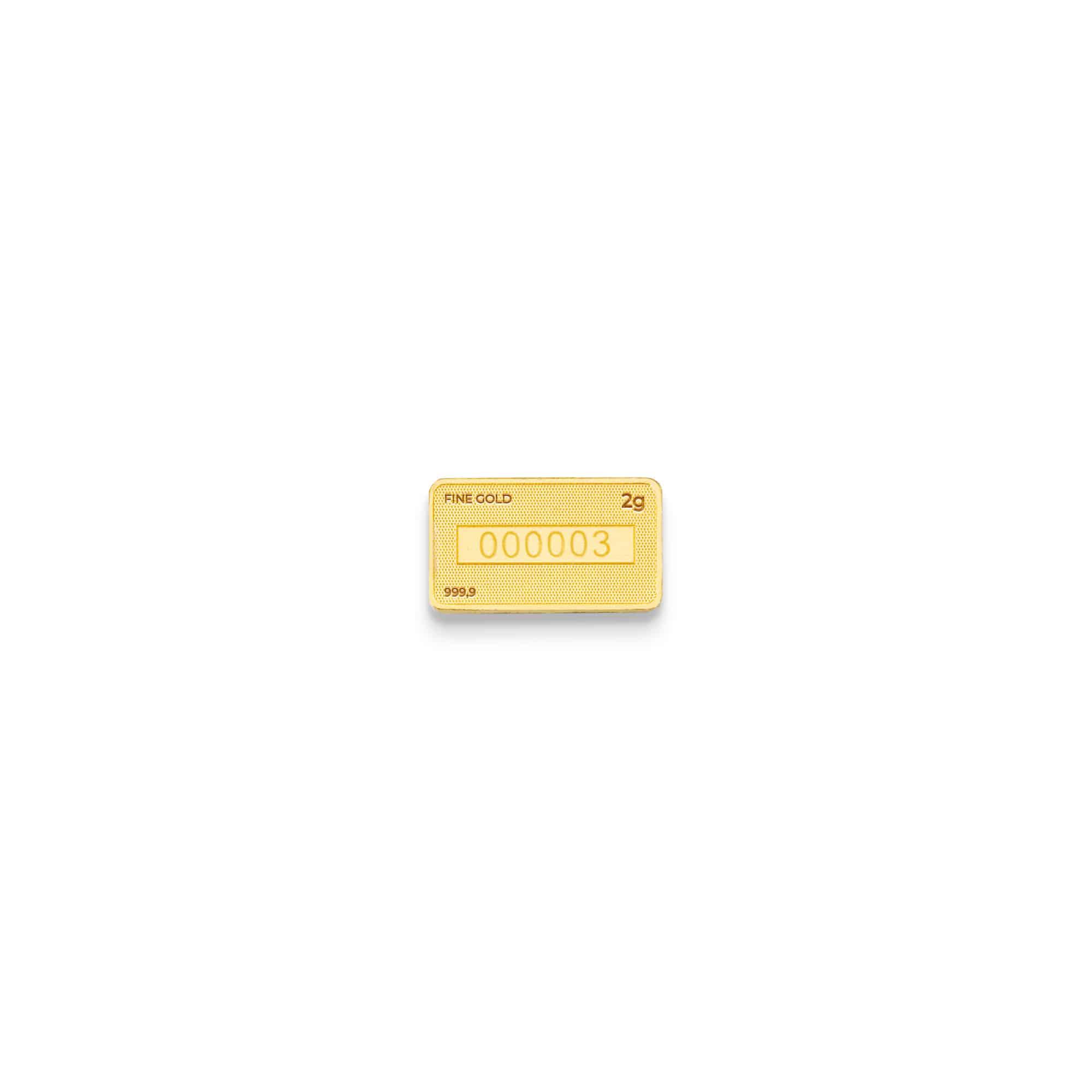 Zlatna plocica 2 grama