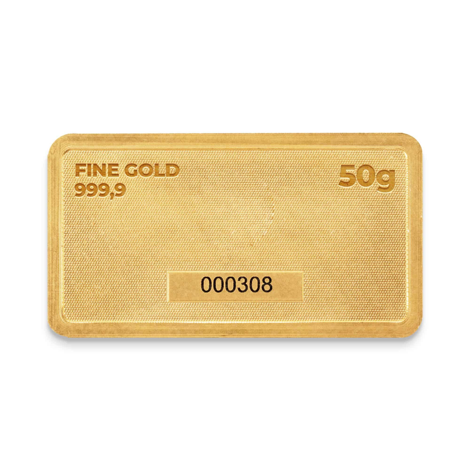 Zlatna plocica 50 grama